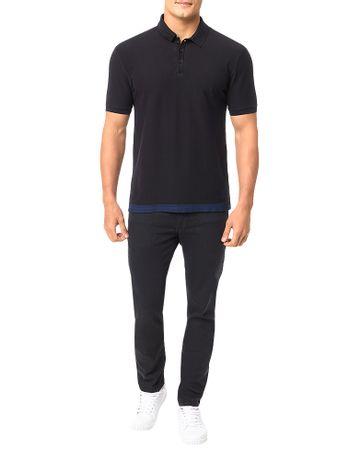 Polo-Calvin-Klein-Jeans-Estampa-Lateral-Barra-Preto