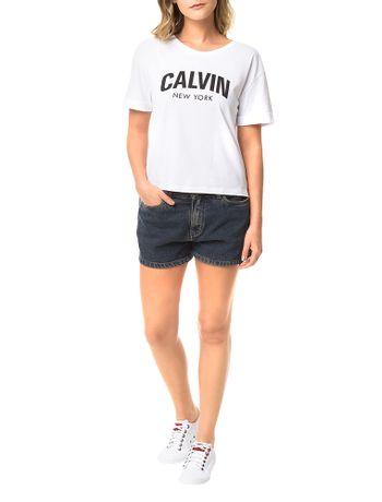 Blusa-Calvin-Klein-Jeans-Com-Estampa-Frontal-Branca