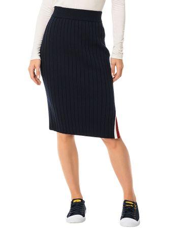 Saia-Calvin-Klein-Jeans-Tricot-Listra-Marinho
