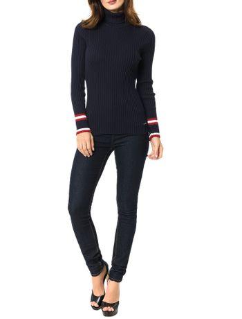 Tricot-Calvin-Klein-Jeans-Punho-Com-Faixas-Marinho