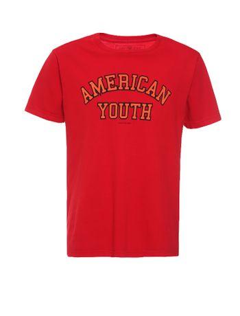 Camiseta-Infantil-Calvin-Klein-Jeans-Estampa-American-Vermelho