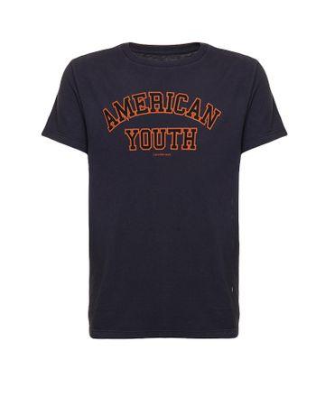 Camiseta-Infantil-Calvin-Klein-Jeans-Estampa-American-Marinho