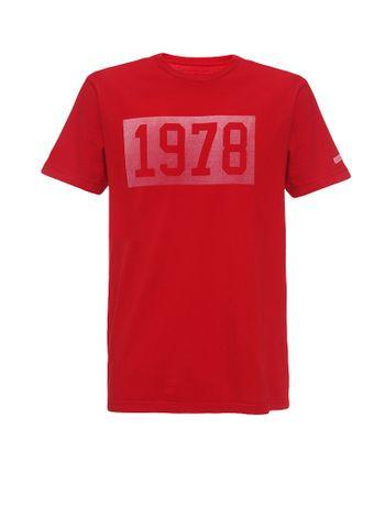 Camiseta-Infantil-Calvin-Klein-Jeans-Estampa-1978-Vermelho