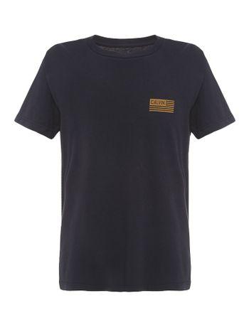 Camiseta-Infantil-Calvin-Klein-Jeans-Estampa-Peito-Bandeira-Azul-Marinho