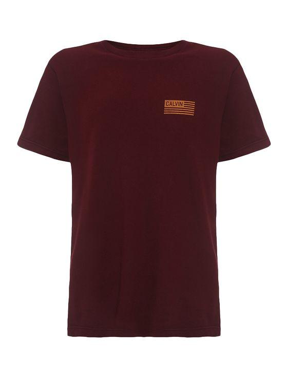 Camiseta-Infantil-Calvin-Klein-Jeans-Estampa-Peito-Bandeira-Bordo