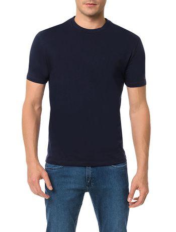 Camiseta-Slim-Calvin-Klein-Estampa-Mosaico-Marinho