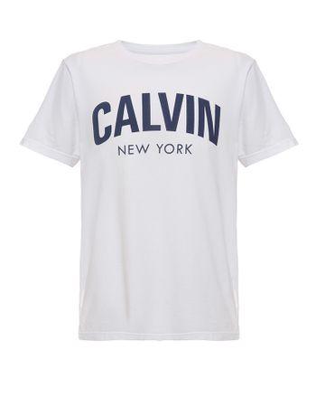 Camiseta-Infantil-Calvin-Klein-Jeans-Estampa-Frontal-Branca