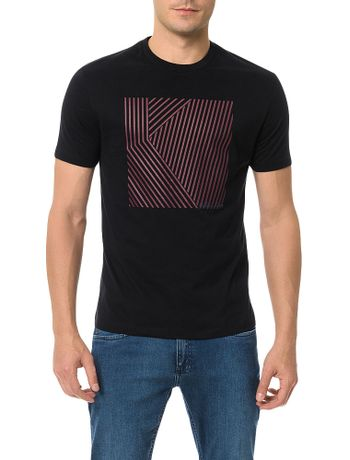 Camiseta-Slim-Calvin-Klein-Mosaico-Quadrado-Preto