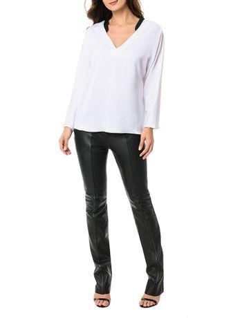 Blusa-Calvin-Klein-Decote-V-Branco