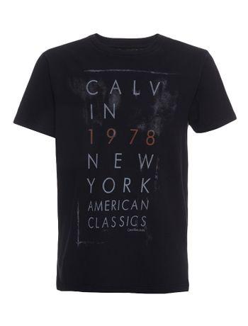 Camiseta-Infantil-Calvin-Klein-Jeans-Estampa-American-Preto