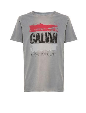 Camiseta-Infantil-Calvin-Klein-Jeans-Estampa-E-Jato-Frontal-Chumbo
