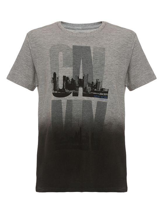 Camiseta-Infantil-Calvin-Klein-Jeans-Estampa-Cidade-Mescla