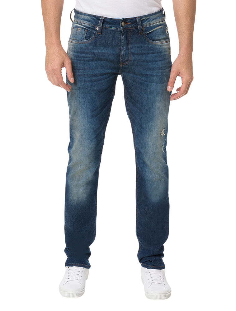 66e5ae574 Calça Calvin Klein Jeans 5 Pockets Super Skinny Azul Médio - Calvin ...
