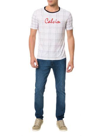 Camiseta-Regular-Calvin-Klein-Xadrez-Branco