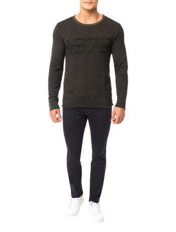Sueter-Calvin-Klein-Jeans-Listrado-Canelado-Militar
