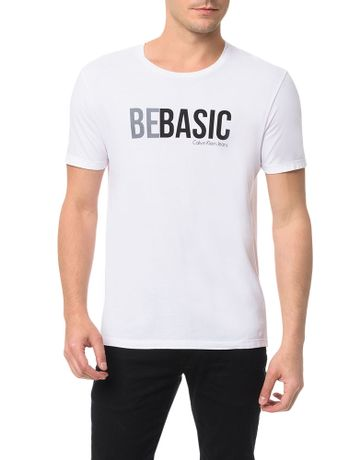 Camiseta-Calvin-Klein-Jeans-Estampa-Be-Basic-Branco
