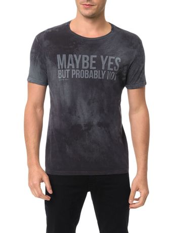 Camiseta-Calvin-Klein-Jeans-Estampa-Maybe-Yes-Grafite