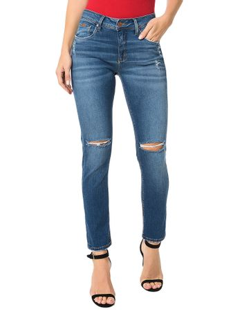 Calca-Jeans-Azul-Medio-Calvin-Klein-Jeans-Five-Pockets-Skinny-High