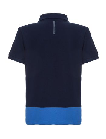 Polo-Infantil-Calvin-Klein-Jeans-Recorte-E-Estampa-Marinho
