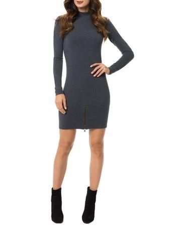 Vestido-Malha-Calvin-Klein-Jeans-Com-Ziper-Frontal-Chumbo