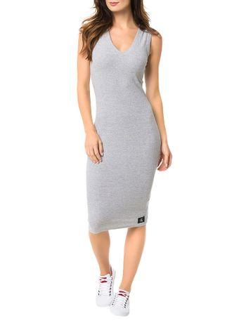Vestido-Malha-Calvin-Klein-Jeans-Ribana-Comprimento-Midi-Mescla