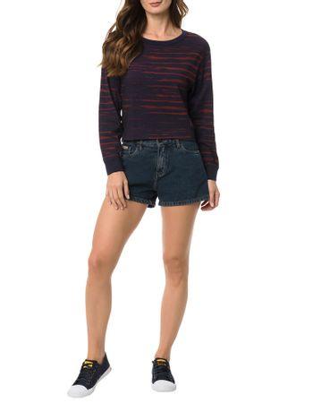 Blusa-Calvin-Klein-Jeans-Estampada-Lines-Marinho