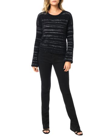 Tricot-Calvin-Klein-Jeans-Pelinho-Listras-Preto
