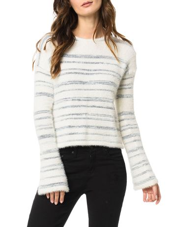 Tricot-Calvin-Klein-Jeans-Pelinho-Listras-Off-White