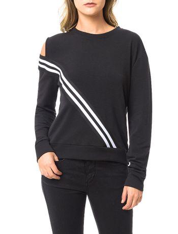 Casaco-Moletom-Calvin-Klein-Jeans-Elastico-Bicolor-Preto