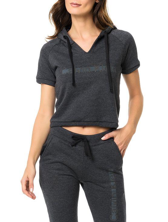 9129556bf06a9 Casaco De Moletom Calvin Klein Underwear Cinza Grafite - Calvin Klein