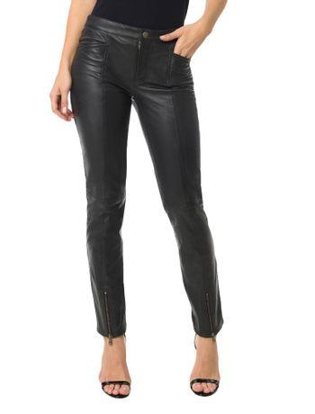 Calca-Calvin-Klein-Jeans-Couro-Recortes-Chumbo