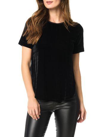 Blusa-Calvin-Klein-Jeans-Veludo-Transpassada-Preto