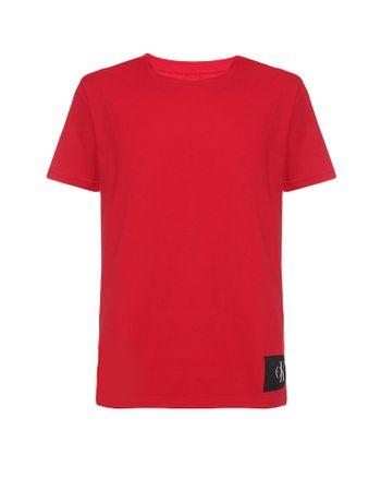 Camiseta-Infantil-Calvin-Klein-Jeans-Etiqueta-Logo-Vermelho