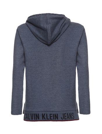 Camiseta-Infantil-Calvin-Klein-Jeans-Logo-Barra-Grafite