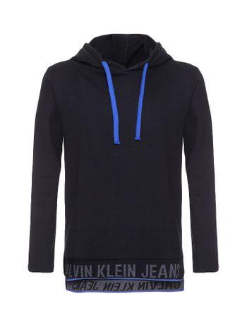 Camiseta-Infantil-Calvin-Klein-Jeans-Logo-Barra-Preto