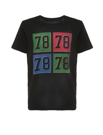 Camiseta-Infantil-Calvin-Klein-Jeans-Estampa-78-Preto