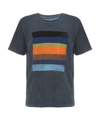 Camiseta-Infantil-Calvin-Klein-Jeans-Estampa-Listrada-Marinho