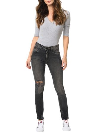 Calca-Calvin-Klein-Jeans-5-Pockets-Sp-High-Preto