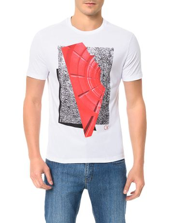 Camiseta-Slim-Calvin-Klein-Estampa-Tunel-Branco