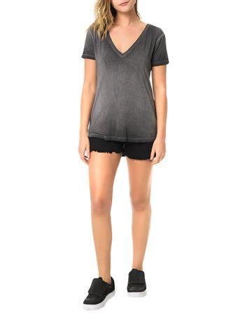 Blusa-Calvin-Klein-Jeans-Com-Lavanderia-Decote-V-Preto