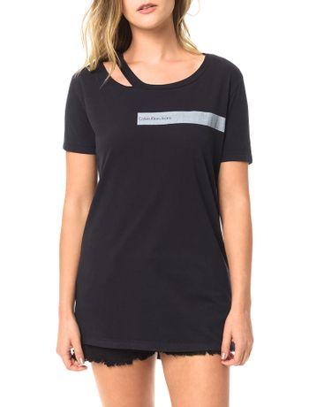 Blusa-Calvin-Klein-Jeans-Com-Retangulo-Estampado-Com-Logo-Preto
