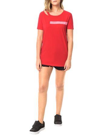 Blusa-Calvin-Klein-Jeans-Com-Retangulo-Estampado-Com-Logo-Vermelho