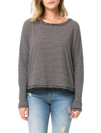 Blusa-Calvin-Klein-Jeans-Listrada-Preto