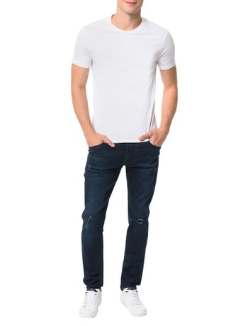 Camiseta-Calvin-Klein-Swimwear-Logo-Barra-Branco
