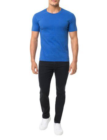 Camiseta-Calvin-Klein-Swimwear-Logo-Barra-Azul-Carbono