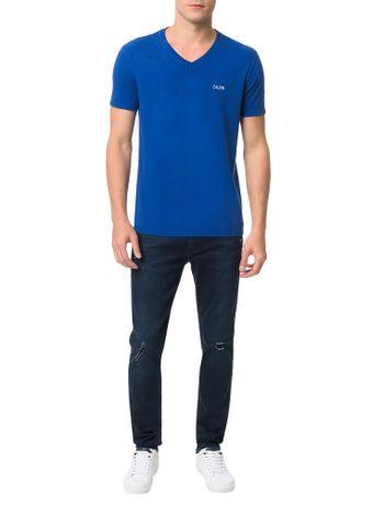 Camiseta-Calvin-Klein-Jeans-Estampa-Calvin-Peito-Azul-Carbono