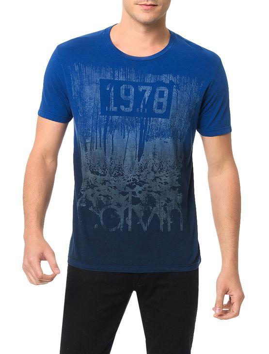 Camiseta-Calvin-Klein-Jeans-Estampa-Azul-Carbono
