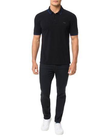Polo-Calvin-Klein-Jeans-Estampa-Logo-Cliche-Calvin-Preto