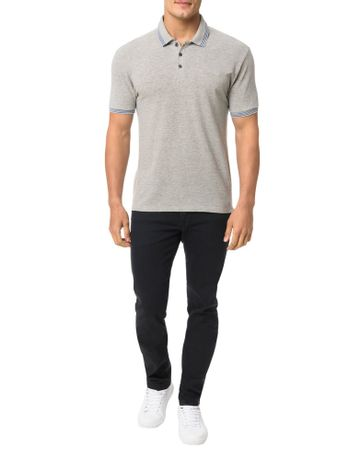 Polo-Calvin-Klein-Jeans-Estampa-Logo-Cliche-Calvin-Mescla