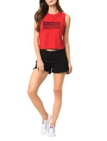 Blusa-Calvin-Klein-Jeans-Estampa-Frontal-Bandeira-Vermelho
